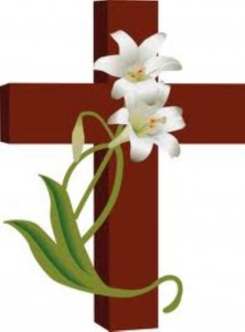 cross with lilies (Medium)