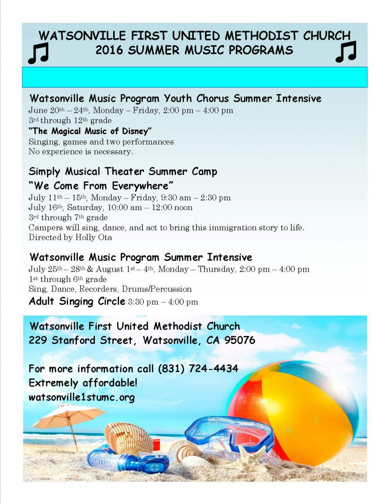 2016 Summer Music Program