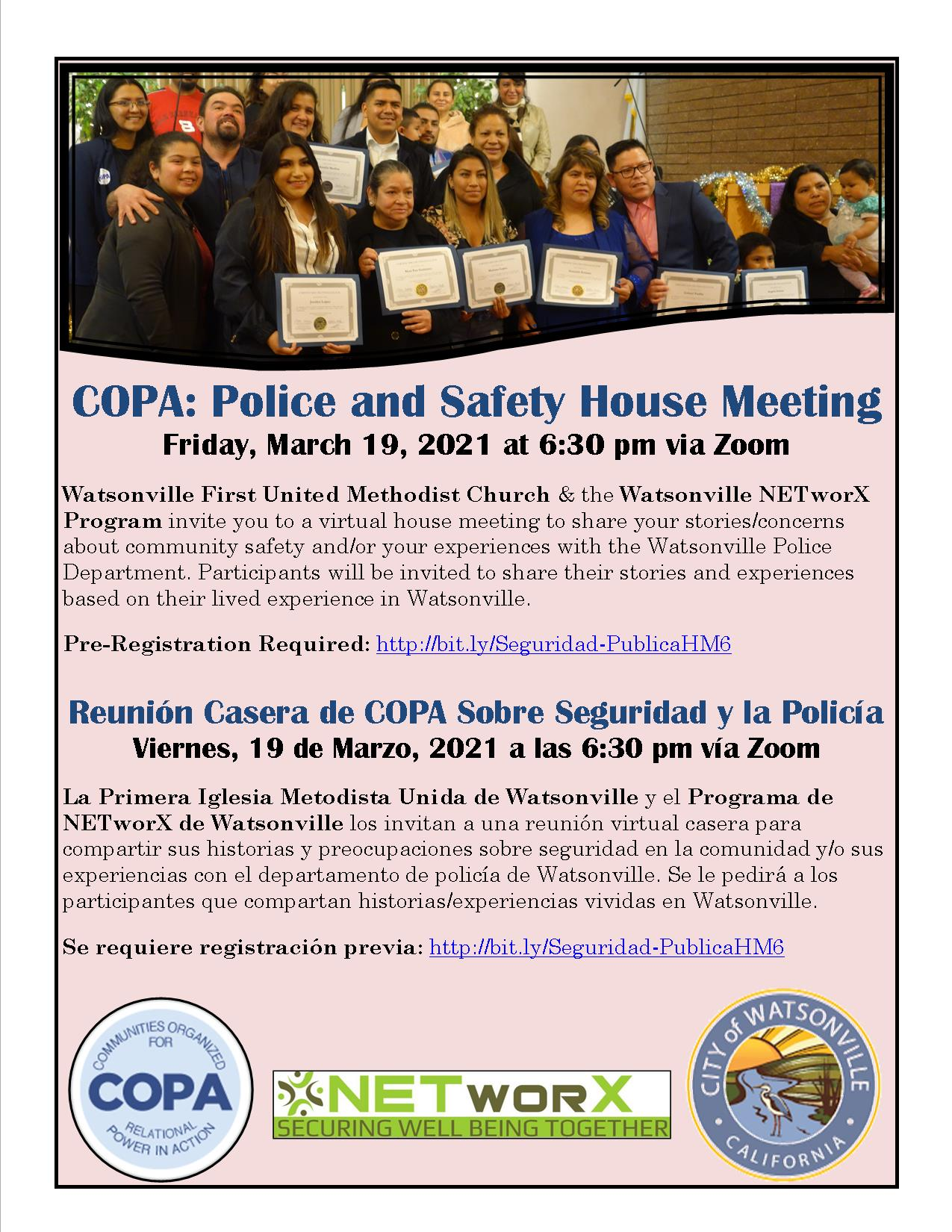 COPA Police and Safety House Meeting